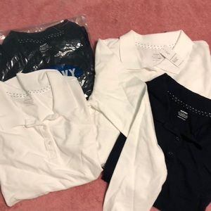 Bundle of 4 Old navy polo shirts girls XL